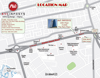 AVI Infosys Location Map