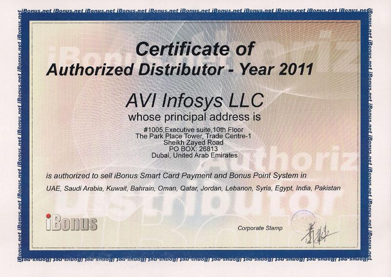 Avi Infosys Certifications