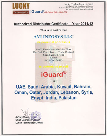 Lucky Authorized Distributor Certificate Year 2011-12